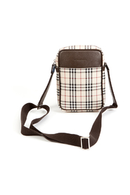 Checked fabric shoulderbag