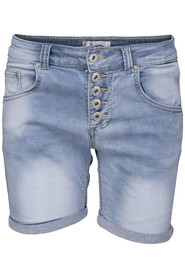 Chica London stretchshorts jeansbl?