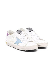Distressed low-top trainers