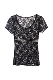 Lace top with logo