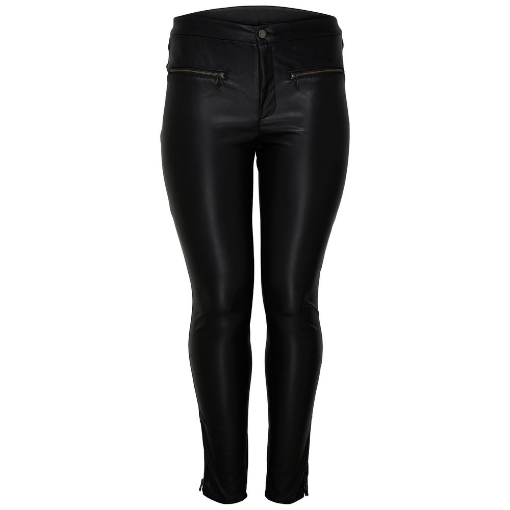 Trousers Curvy leather look