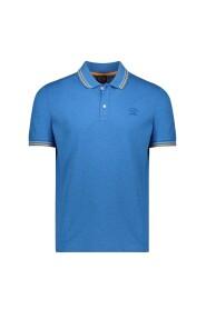 Piqué polo shirt with edging
