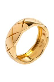brukt Coco Crush Quilted Motif 18K Band Ring