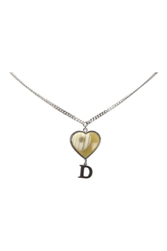 D Logo Heart Shell Necklace Metal Brass