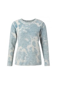 round neck sweater with inside out print