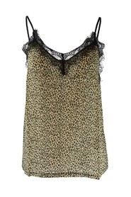 Leopard and Lace Cami Top