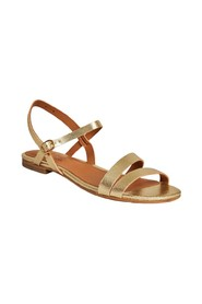 Raha laminated leather sandals