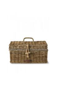 Rustic Rattan Holiday Breadbox