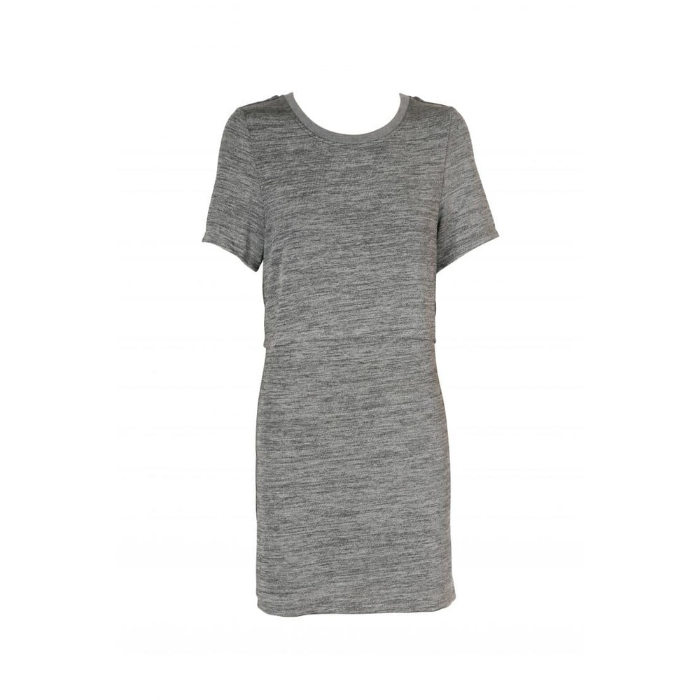 Revolution Layered Tee Dress with Split Detail