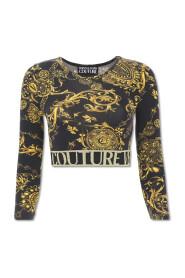 T-Shirt Lycra Top Baroque Print