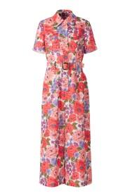 Poppy Floral Linen Jumpsuit
