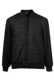 Pierre Cardin Fleece Bomber Jacket Black