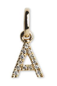 Letter Pendant A with Diamonds, 18 karat gold