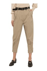 Crop safari trousers