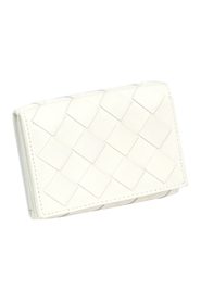 Pre-owned Intrecciato Leather Trifold Wallet