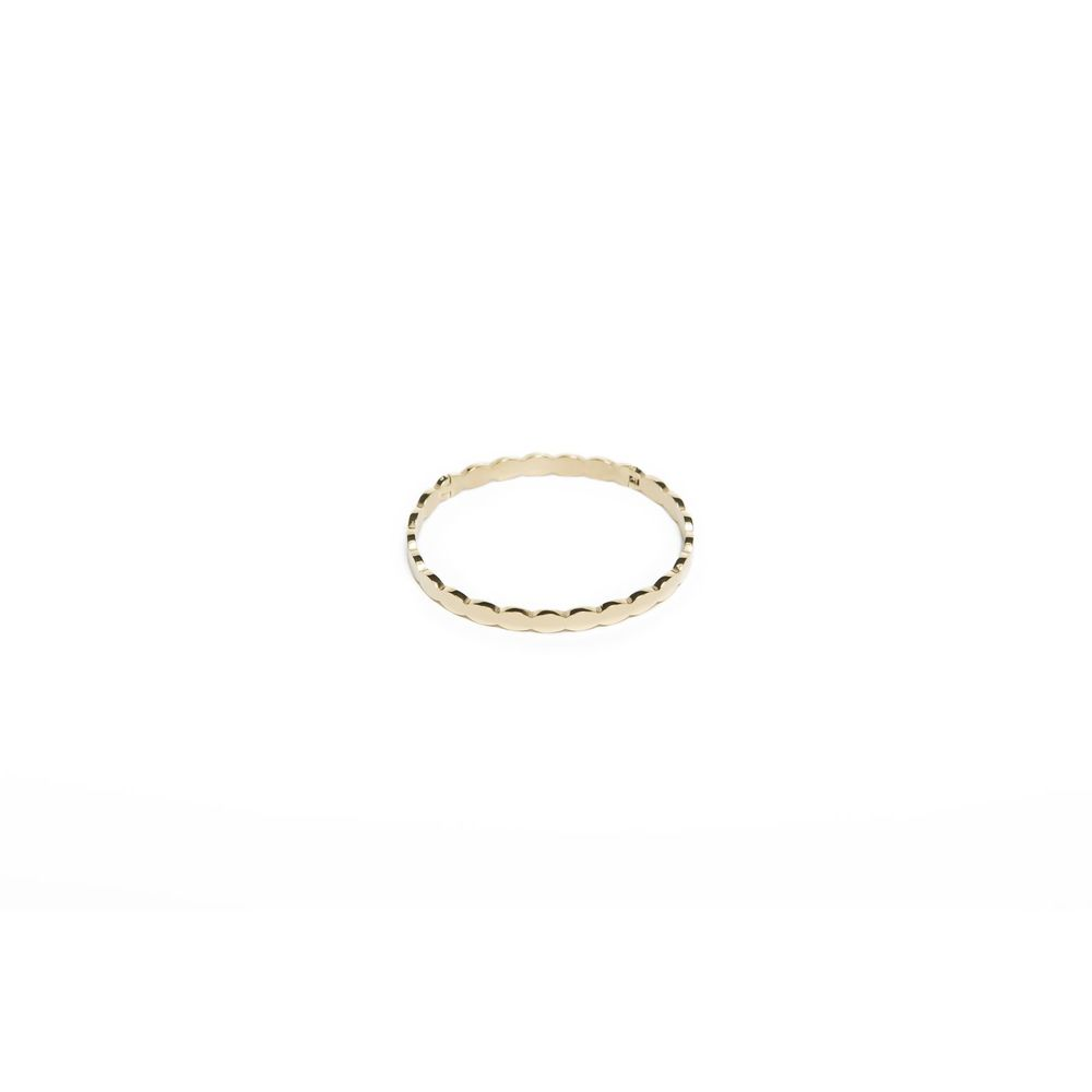 Silis Bangle Small Sculpture Gold Out