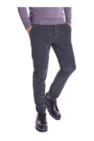 RIBBED VELVET TROUSERS WITH PINCES