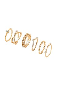 6 X Pave Stacking Rings