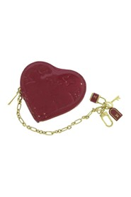 Monogram Vernis Heart Coin Purse Leather