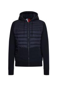 Jaquard Mixed Media Zip Jacket