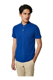 SELECTED 16049517 HARO POLO Men BLUE CHINA