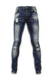 Slim Fit Damaged Zipper Jeans