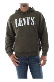 LEVIS 72632 GRAPHIC HOODIE SWEATER Men GREEN
