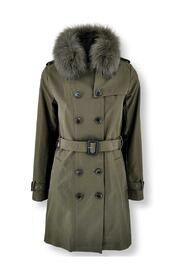 Daisy Trench Coat, 90 cm. - Collar - Textile - Women - Army