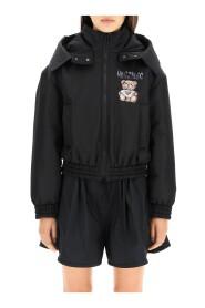 teddy painting bomber jacket