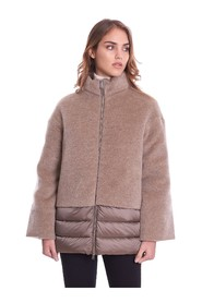 FLARED DOWN JACKET WITH APPLICATION