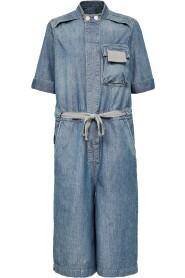 Shortsleeve workwear playsuit