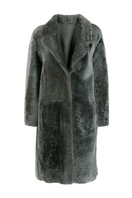 textured shearling jacket