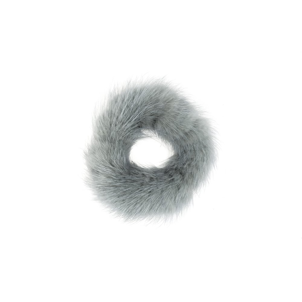 FUR SCRUNCHIE DUSTY TEAL