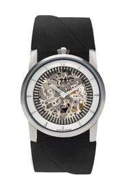Rehab automatic silver Skeleton watch 413S-02