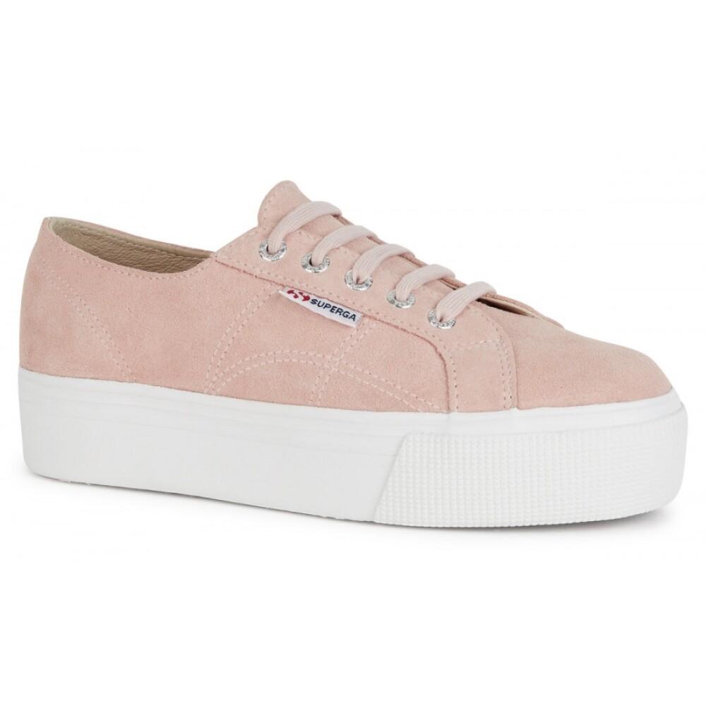 Light Pink Ung Mote  Superga  Sneakers - Sko Til Dame