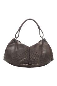 Pre-owned Intrecciato Shoulder Bag Leather Calf