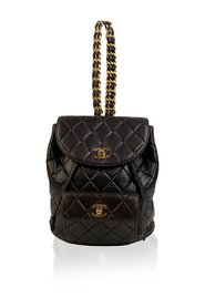 Quilted Small Backpack Shoulder Bag