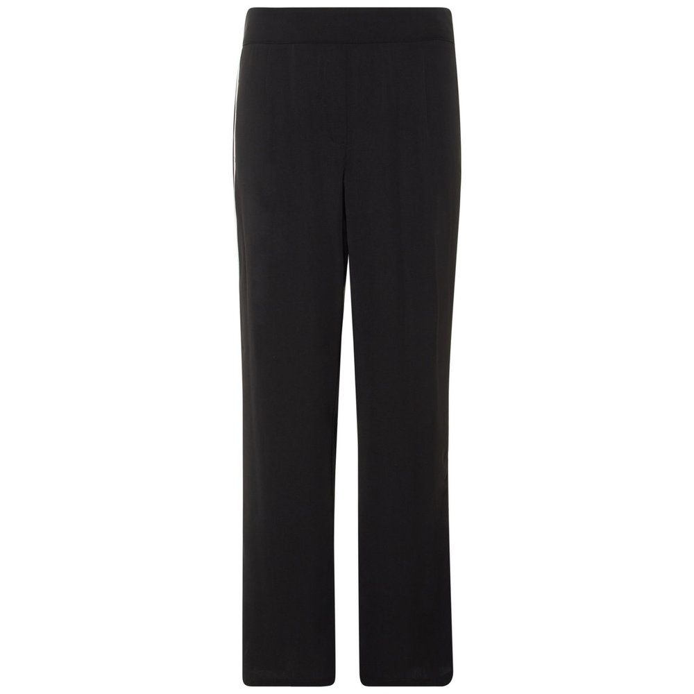 Wide-leg trousers side stripe