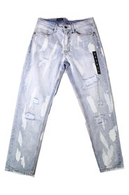 Jeans Athletic Tapered Dyed Distressed