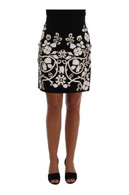 Crystal Floral Pencil Skirt