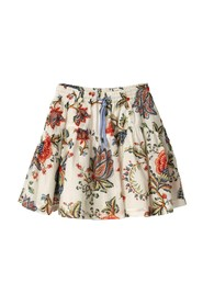 FANCY COTTON SKIRT WITH ELASTIC AND LACES