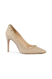 Cream Studded Court Shoes