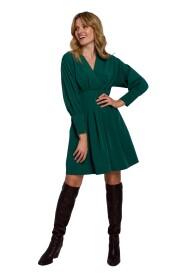 Sukienka Z Rozkloszowanymi Zakładkami