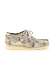 Wallabee camouflage lace-up shoes
