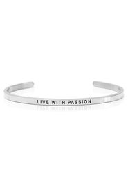 Armring med tekst - LIVE WITH PASSION - 7239