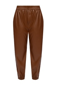 Trousers with elasticated cuffs