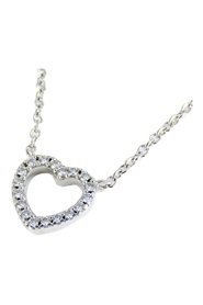 18K Metro Heart Diamond Necklace