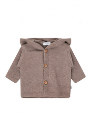 Brun Hust & Claire Cookie cardigan ash brown