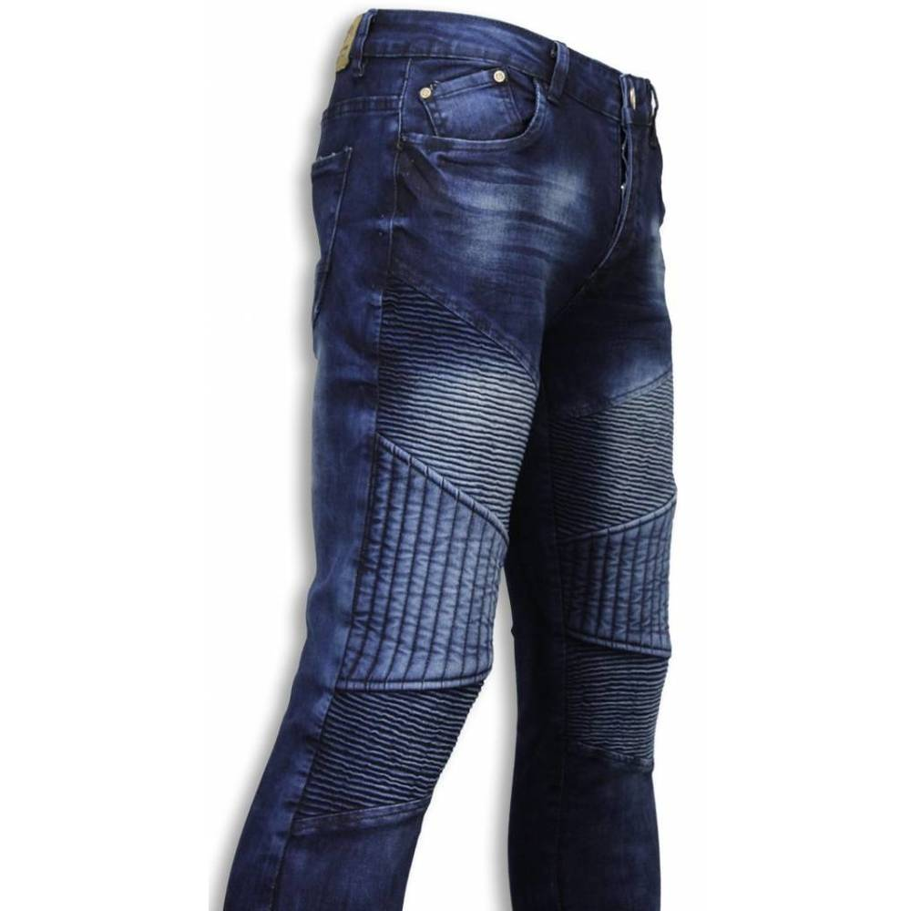 Slim Fit Biker Jeans Alla Ripped Biker