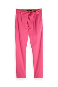 Tapered sweat pants with tie